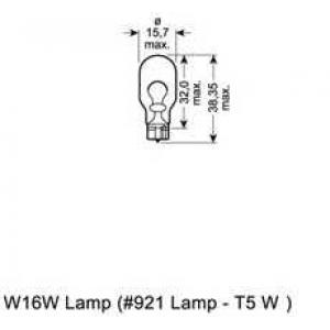 Лампа накаливания, фонарь указателя поворота; Ламп 921 osram - OPEL ASTRA Sports Tourer (J) универсал 1.4