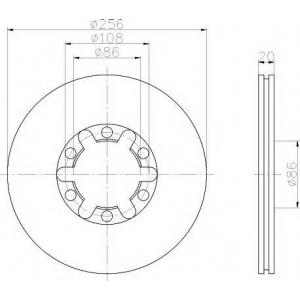 PAGID 50218 Тормозной диск Киа Беста