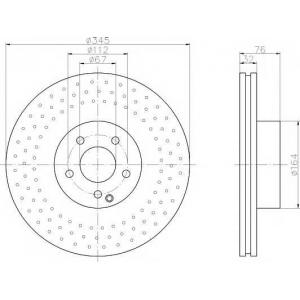 PAGID 50337 Тормозной диск передний