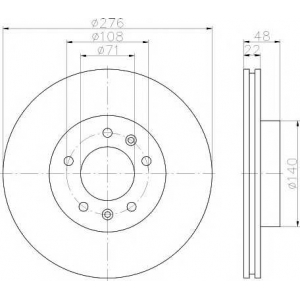 PAGID 50620 Тормозной диск передний