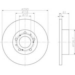 PAGID 50903 Тормозной диск передний