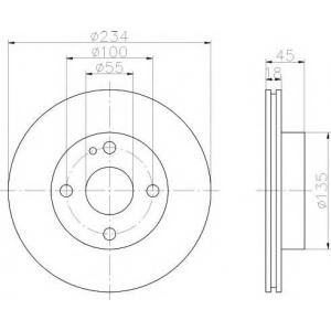 PAGID 52018 Тормозной диск