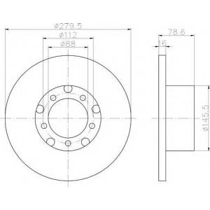 PAGID 52104 Тормозной диск передний