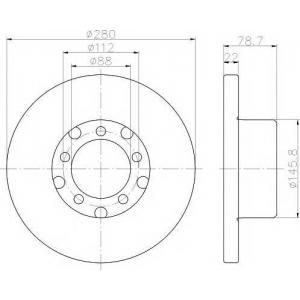 PAGID 52134 Тормозной диск передний