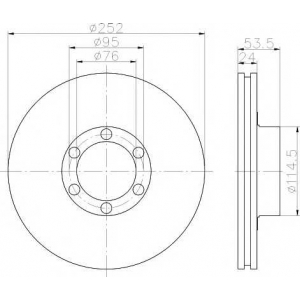 PAGID 52822 Тормозной диск