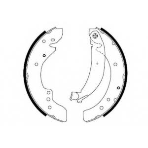 PAGID H8920 Тормозные колодки задние (барабанные)