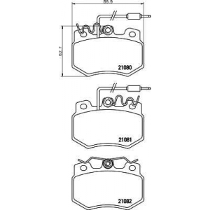 PAGID T2017 Тормозные колодки передние
