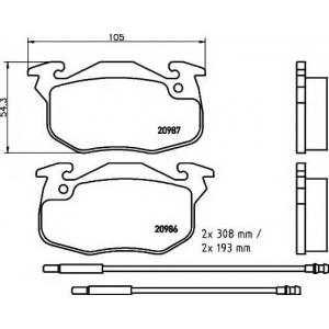 PAGID T9029 Тормозные колодки передние