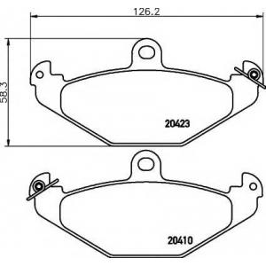 PAGID T9037 Тормозные колодки задние