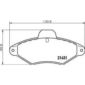 PAGID T9038 Тормозные колодки передние