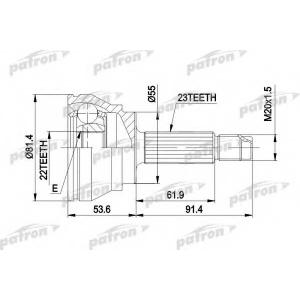 PATRON PCV1014 Шрус наружн к-кт ford escort 1.3-1.8 80-90, orion 1.4-1.6 9.82-