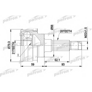 PATRON PCV1137 Шрус наружн к-кт mazda 323 7.89-