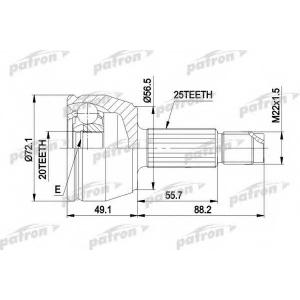 PATRON PCV1283 Шруз наружный