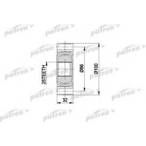 PATRON PCV2273 Шрус: е 34 внутр.+ наруж. 518-525 с пыльником