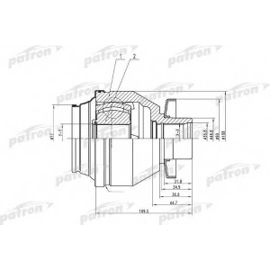 PATRON PCV4843 Шрус: t-5