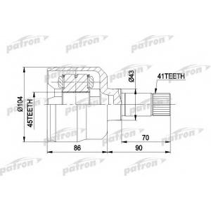 PATRON pcv5021 Шрус внутренний