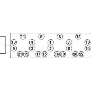 PAYEN HBS273 Болти головки блоку