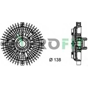 17201010 profit Сцепление, вентилятор радиатора AUDI A8 седан 2.8