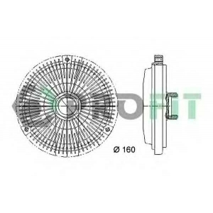 PROFIT 1720-3017 Муфта вентилятору