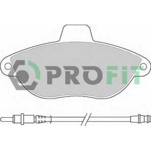 PROFIT 5000-1002 C Колодки гальмівні дискові