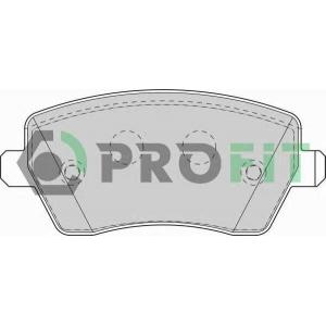 50001617 profit Комплект тормозных колодок, дисковый тормоз DACIA LOGAN пикап 1.4