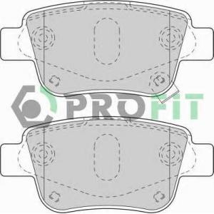 PROFIT 5000-1649 Колодки гальмівні дискові