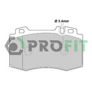 PROFIT 5000-1661 Колодки гальмівні дискові