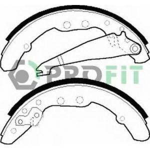 PROFIT 5001-0409 Колодки гальмівні барабанні