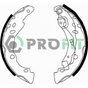PROFIT 5001-0642 Колодки гальмівні барабанні