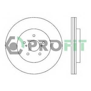 PROFIT 5010-1544 Диск гальмівний