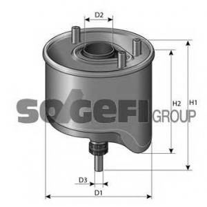 Топливный фильтр cs762 purflux - CITRO?N C4 (B7) Наклонная задняя часть 1.6 HDi 110