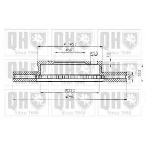 QH BDC3317 Гальмiвнi диски на 4 отвори