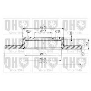 QH BDC3511 Гальмiвнi диски