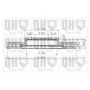 QH BDC4360 Гальмiвнi диски