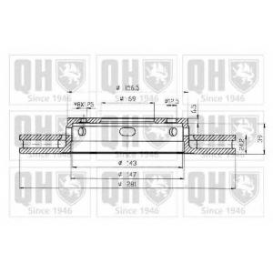 QH BDC4572 Гальмiвнi диски