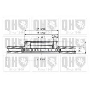 QH BDC4583 Тормозной диск