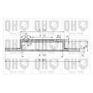 QH BDC5003 Гальмiвнi диски