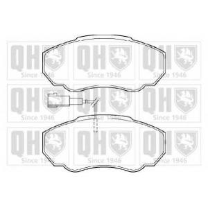 QH BP1341 Комплект тормозных колодок, дисковый тормоз