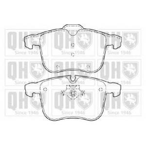 QH BP1392 Комплект тормозных колодок, дисковый тормоз