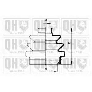 QUINTON HAZELL QJB991 Комплект пылника, приводной вал