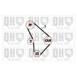 QH QTB 374 Ремень ГРМ