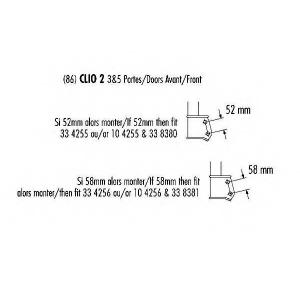 RECORD 10 4256 Стойка передняя Clio2 D4F/K4J/K4M 58mm