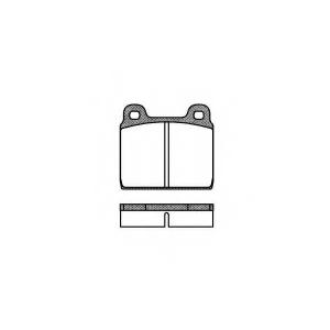 REMSA 0002.20 Колодки гальмівні дискові