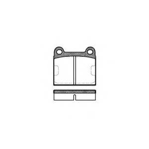 REMSA 0006.60 Колодки гальмівні дискові