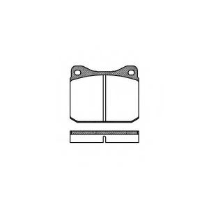 REMSA 0010.00 Колодка торм. VW LT 28-35 (04/75-06/96) передн. (пр-во REMSA)