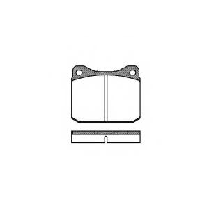 REMSA 0010.10 Тормозные колодки (пр-во Remsa)