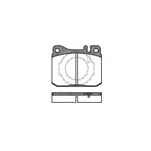 REMSA 0010.40 Колодка торм. MB S-CLASS передн. (пр-во REMSA)