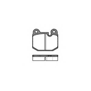 REMSA 0014.10 Колодки гальмівні дискові
