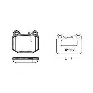 REMSA 0014.40 Колодка торм. MB M-CLASS (W163) (02/98-06/05) задн. (пр-во REMSA)