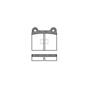 REMSA 0017.00 Колодка торм. AUDI, VW передн. (пр-во REMSA)
